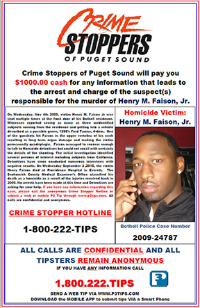 Unsolved Henry Faison Jr. Shooting from November 2009