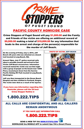 Unsolved Jeff Beach Homicide from July 2015