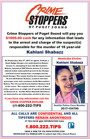 Unsolved Kahlani Shabazz Homicide from May 2017
