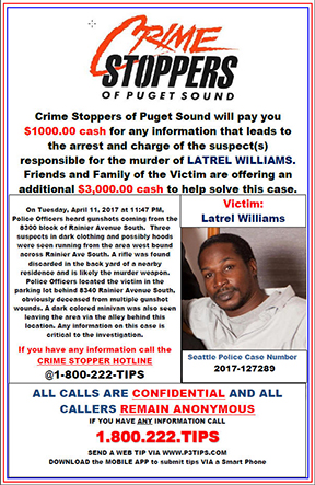 Unsolved Latrel Williams Homicide from April 2017