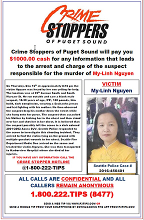 Unsolved My-Linh Nugyen Homicide from December 2016