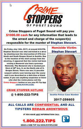 Unsolved Stephan Stewart Homicide from July 2017