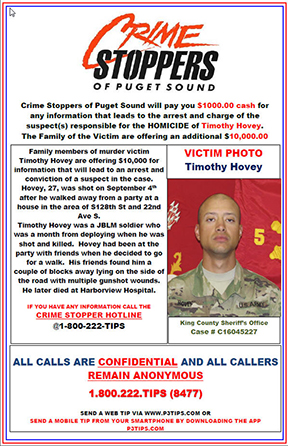 Unsolved Timothy Hovey Homicide from September 2016