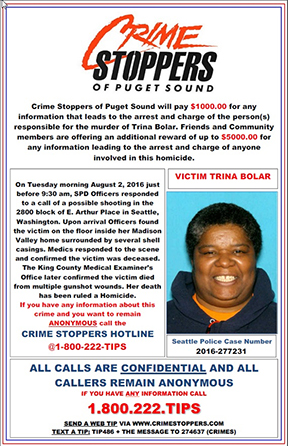 Unsolved Trina Bolar Homicide from August 2016